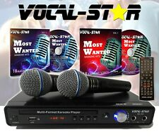 More details for vocal-star vs-400 hdmi karaoke machine cdg dvd mp3 2 mics & top songs xdem000