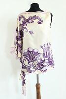 Richmond BNWT Patterned Silk Women One Shoulder Blouse Size IT 42 EU M