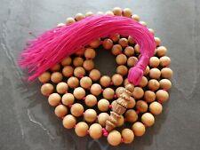 Mysore Sandalwood Mala Prayer Beads Authentic Highest Quality Necklace, Bracelet