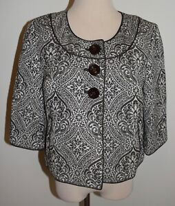New Womens Ann Taylor Blazer 10 Button 3/4 Sleeve Jacket Lined