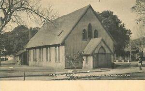 C-1905 Fortress Monroe Virginia Post Chapel undivided Postcard 21-4166