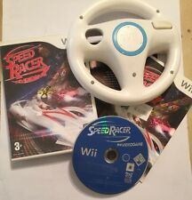 NINTENDO Wii GAME SPEED RACER THE VIDEOGAME COMPLETE +1 OEM RACE WHEEL