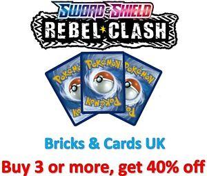 Pokemon TCG Rebel Clash - Pokemon & Trainer - Rare / Uncommon / Common Cards