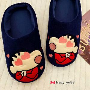 Crayon Shin-chan love eye FUZZY  indoor slippers shoes slipper   X'mas  gift