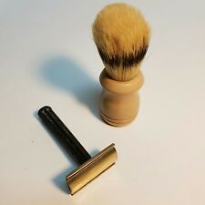 Vintage Safety Razor Gillette & Shaving Brush