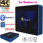 Beelink Mini PC Intel Quad Core Win 10 64bit Computer 4K UHD WiFi BT4.0 8GB+64GB