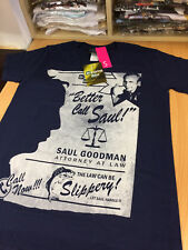 Breaking Bad Better call Saul official Blue 100% cotton T-shirt clearance small