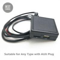 Car Audio Bluetooth 5.0 AUX Adapter Cable USB Handsfree Microphone HI-FI Sound