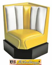 hw-60/60-yel américain dinerbank Banc diner bancs meuble 50´s rétro usa style