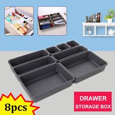 8PCS Drawer Draw Insert Organisers Storage Make Up Holder Jewellery Cover Box