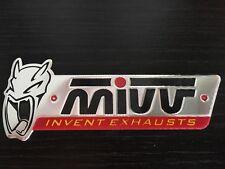 MIVV Invent Exhausts 3D Exhaust Heat Proof Resistant Aluminium Sticker Decal