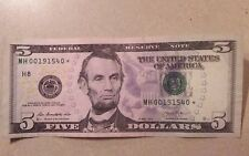 Circulated $5 2013 US Federal Reserve Small Notes for sale