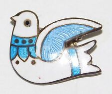 Taxco Sterling Silver & Enamel Dove Bird Pin Jeronimo Fuentes JF Eagle 3