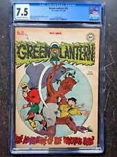 GREEN LANTERN COMICS #22 CGC VF- 7.5; OW-W; The Invisible World! rare!