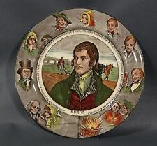 Rare English Ceramic Porcelain Wall Plate Robert Burns Royal Doulton Characters