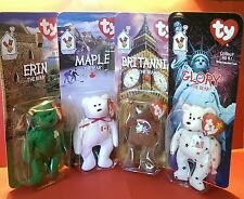 Vtg.1999 Complete Set of 4 Ronald McDonald House Charities TY Beanie Baby Bears