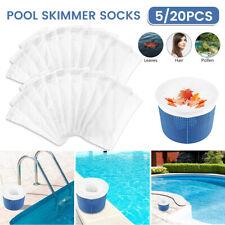 More details for pool skimmer socks pool filter net saver socks reusable ultra-fine filt mesh new