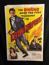 Counterplot 1958 One Sheet Movie Poster Noir, Forrest Tucker, Crime