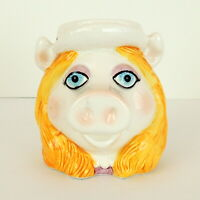 Vintage Sigma MISS PIGGY Mug Cup Japan Henson Flaw Flea Bite
