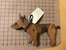 Original Vintage WOODEN FOLK ART DOG