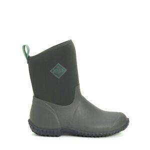 Muck Boots MUCKSTER II MID Ladies Rubber Waterproof Wellington Boots Grey