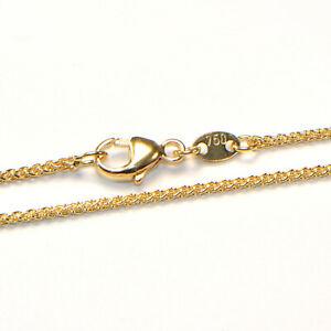 Goldkette 18K Gelbgold 750 Zopf Collier Halskette diverse Breiten und Längen