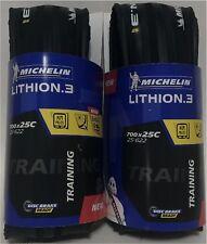 Michelin Lithion 3 V2 700 x 25  2019 all black 2 tires (1 pair)
