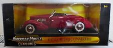 ERTL COLLECTABLES AMERICAN MUSCLE 1937 CORD 812 CONVERTIBLE DIE CAST 1:18 (B6)