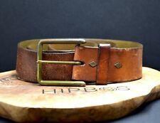 GAP Vintage Mens Leather Jeans Belt Brown Size 34