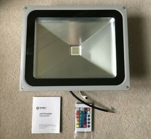 TechBox 50W LED Floodlight multifunction colour choice and remote control NEW.