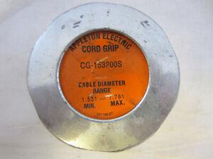 "APPLETON CG153200S  2"" STEEL CORD GRIP 1.531-1.781""  RANGE  CGB"
