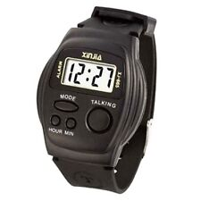 English Talking Watch LCD sports wristwatch for Elderly Blind Vision Impaired