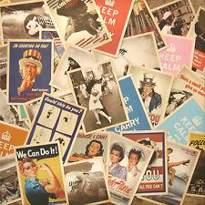 14cm x 10cm Second World WarⅡCards Vintage Retro Posters 32pcs Gift New 2017