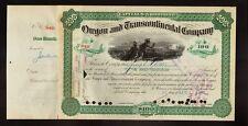Oregon and Transcontinental Company Railroad 1888 -  Signature Sidney Dillon