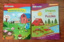 Kindergarten Fundamentals Write and Wipe Book & Shapes and Puzzles Workbook
