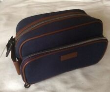 TED BAKER Mens Navy Canvas Weekend Sports gym Gift Wash Hand Bag Genuine 2017