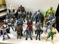 20 MARVEL & DC SUPERHERO FIGURE COLLECTION BUNDLE LOT, BATMAN JOKER SUPERMAN