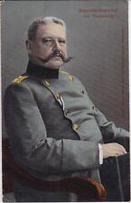 uralte AK, Portrait Generalfeldmarschall von Hindenburg,gezeichnet Feldpost 1915