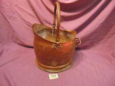 Antique Copper Coal Scuttle Bucket Fire Fireplace Hearth 154