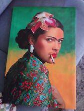 """Art Deco Print on Canvas """"Frida Kahlo"""" 23 1/2"""" x 16"""""""