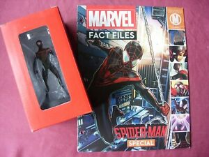 Spider-Man: Miles Morales Special Marvel Fact File Figurine & Mag Eaglemoss VFN
