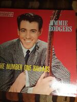 JIMMIE RODGERS THE NUMBER ONE BALLADS VINYL LP ROULETTE R-25033 EX+/VG Dynamic
