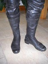 VINTAGE LEWIS Leathers cafe racer pelle nera misura 10