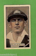 1934 - 1935 ALLEN'S CRICKET CARDS #14  T. W. WALL