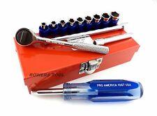 Pro America Kal Tool 14pc 1/4 in. Drive SAE Mechanics Socket Set MADE IN USA