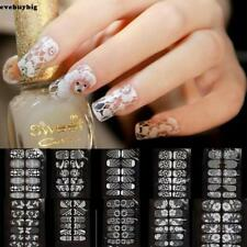 New Nail Art Water Transfer Stickers Decals Lace Floral Pattern Nail Decoration