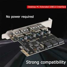 1×PCI-E To USB 3.0 PCIE Expansion Controller Card 4-Port PCI Express Hub Adapter