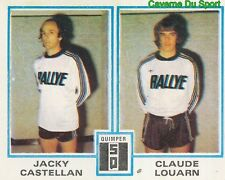 434 JACKY CASTELLAN CLAUDE LOUARN STADE QUIMPEROIS STICKER FOOTBALL 1980 PANINI