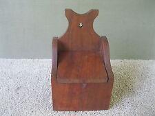 """Vintage Salt Box Primitive, Lid, Walnut Wood, 11"""" Tall x 6-1/2"""" Wide x 5"""" Deep"""