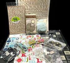 Lot of 12 Alphabet Numbers Letters Making Memories Martha Stewart Scrapbooking